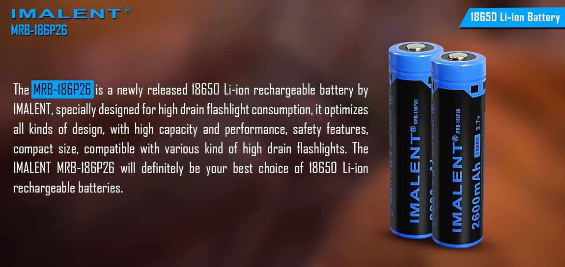 Imalent baterie 18650 2600mAh