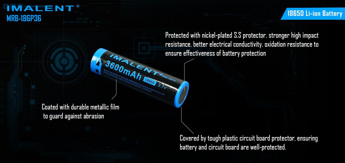 Baterie Imalent 18650 3600mAh