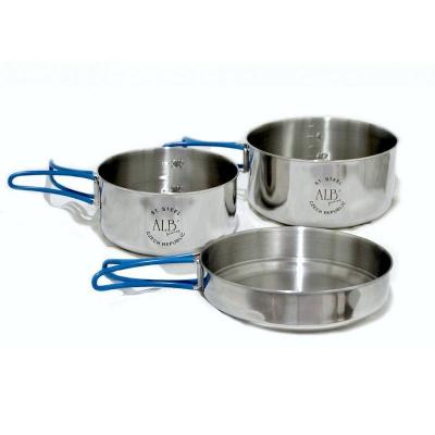 Nerezové nádobí třídílné